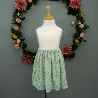 Mint Lace Girl's Skirt