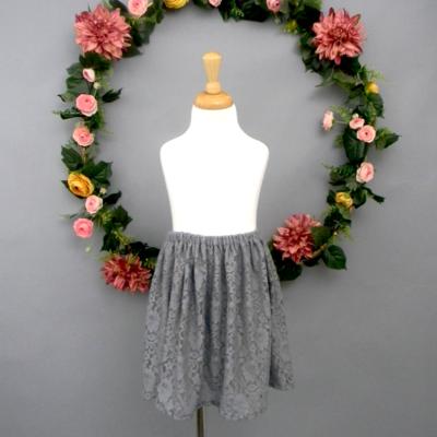 Gray Lace Girl's Skirt