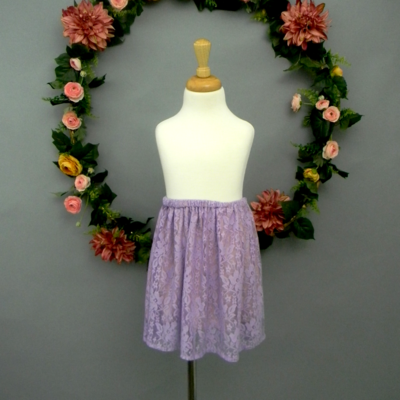 Lilac Lace Girl's Skirt