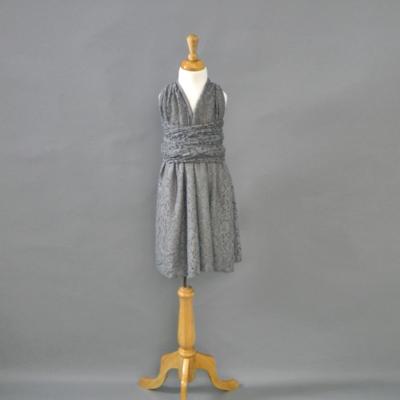Flowergirl Gray Lace Infinity Dress