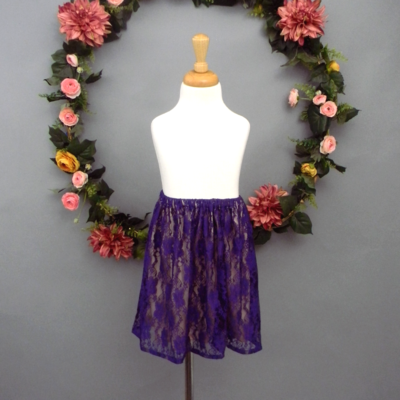 Purple Lace Girl's Skirt