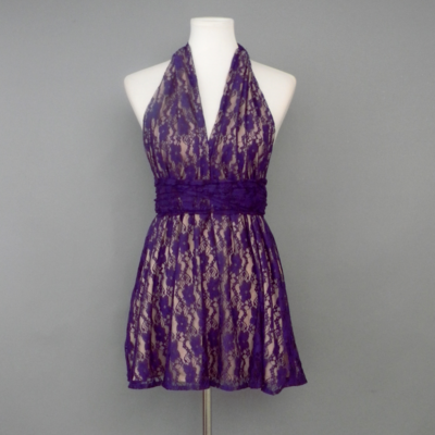 Calista Purple Lace Infinity Top
