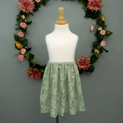 Sage Lace Girl's Skirt