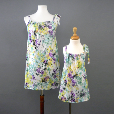 Evie Spring Floral Pillow Dress