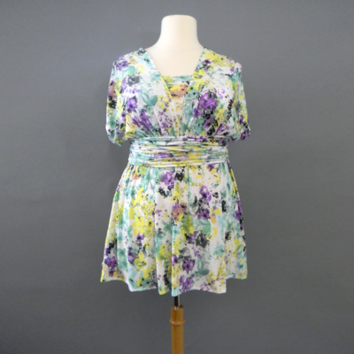 Spring Floral Infinity Top
