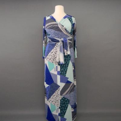 Jacqueline Modern Blue Long Sleeve Infinity Maxi