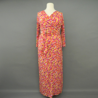 Jacqueline Dotted Pink Long Sleeve Infinity Maxi