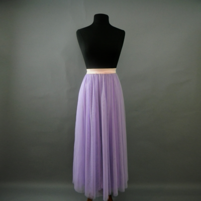 Lilac Long Tulle Skirt