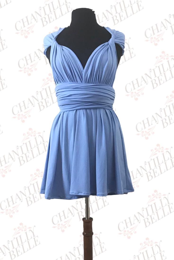 Powder Blue Infinity Mini Dress