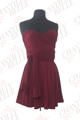 Maroon Infinity Mini Dress