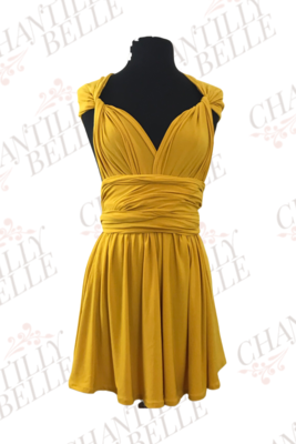Yellow Infinity Mini Dress