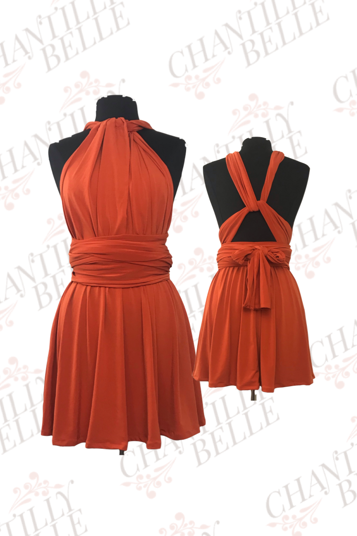 Orange Infinity Mini Dress