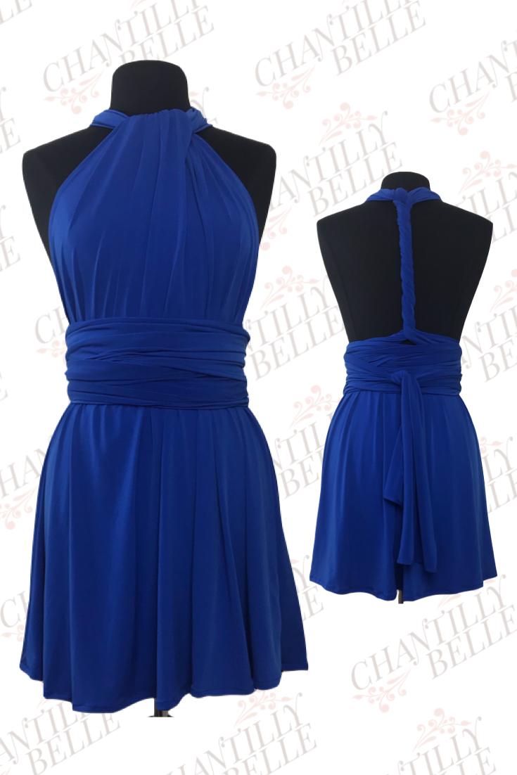 Royal Blue Infinity Mini Dress