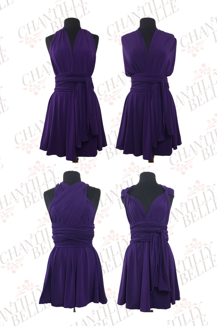 Purple Infinity Mini Dress