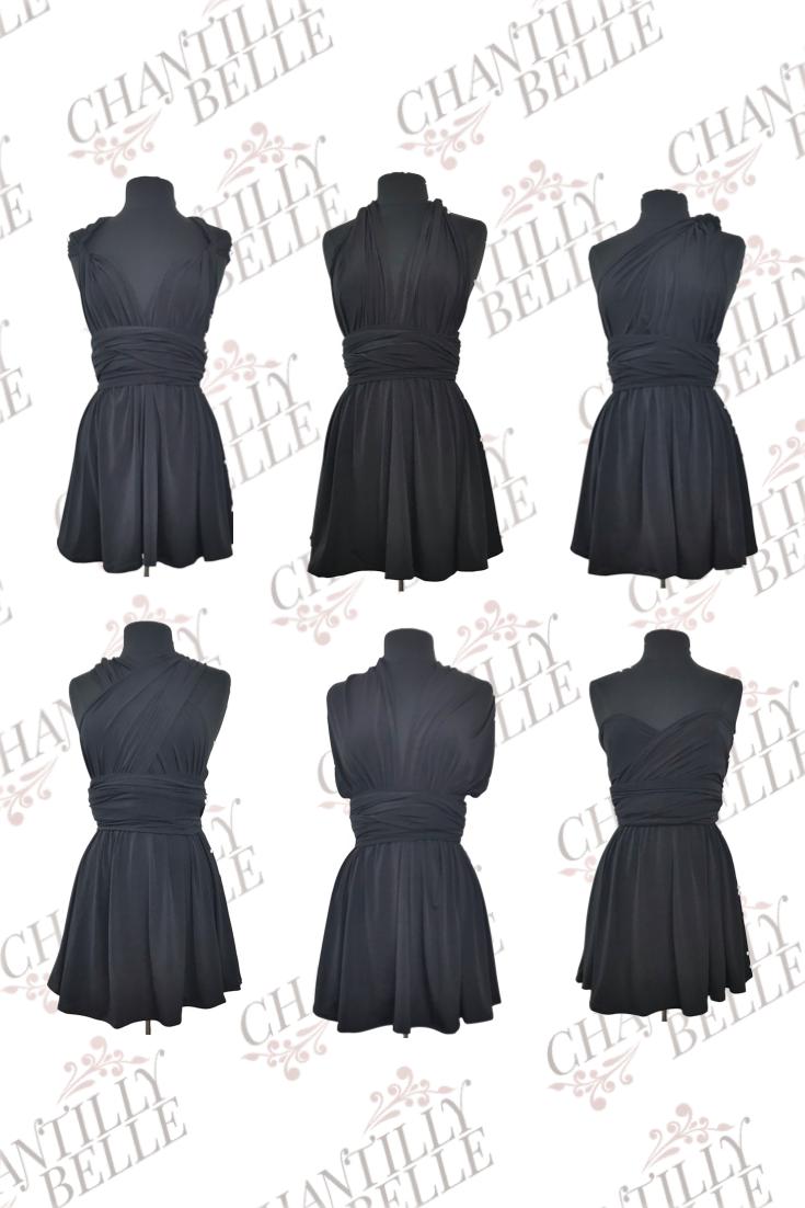 Black Infinity Mini Dress