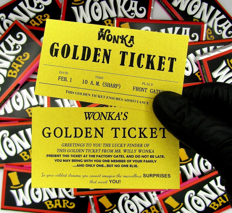 Large Wonka Bar With Golden Ticket