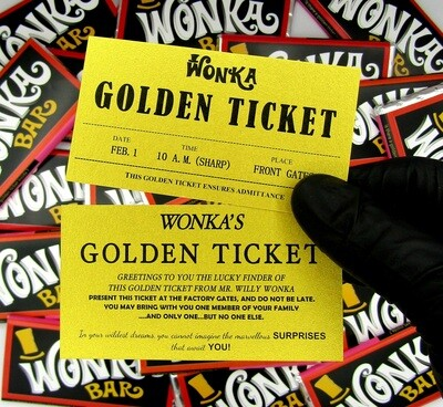 Large Wonka Bar With Golden Ticket