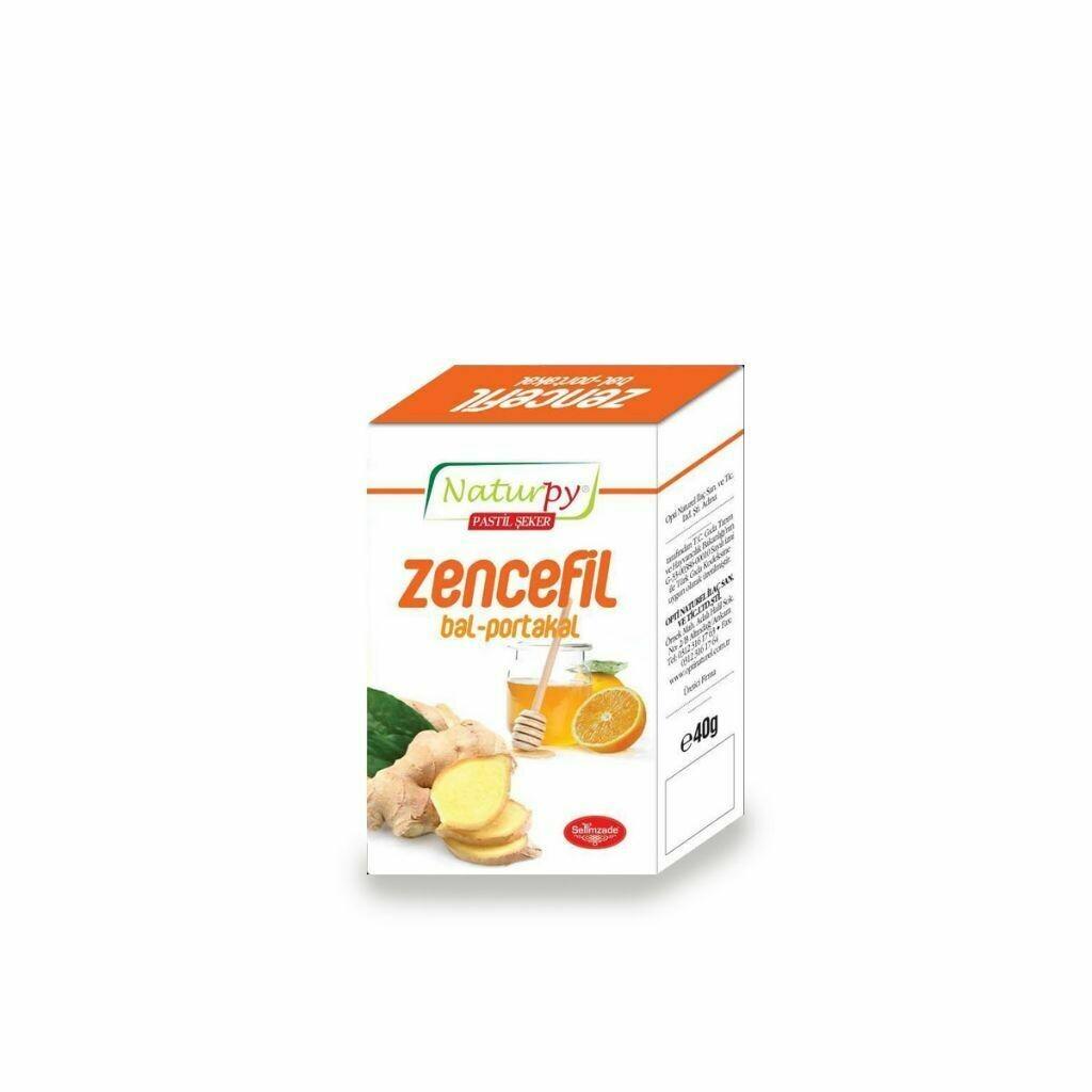 Naturpy Bitkisel Ballı Portakallı Zencefil Pastil 40 gr
