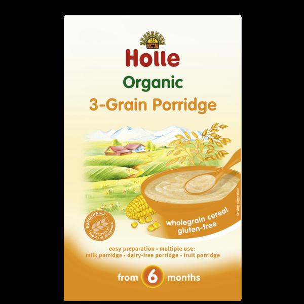 Holle Baby Kepekli Tahıl 3 grain 250 gr