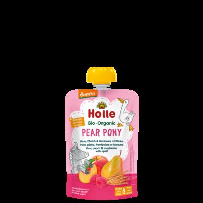 Holle Pear Pony Armut Şeftali Ahududu Püresi