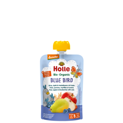 Holle Blue Bird Armut Elma Yulaflı Yaban Mersini Püresi