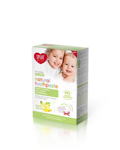 Splat Bebek Diş Macunu Elma-Muz ve Fırçası 0-3 Yaş