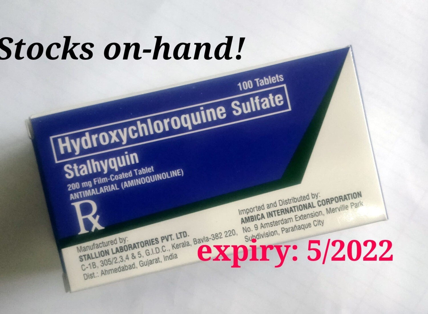 Hydroxychloroquine 200mg Tablet x 1's