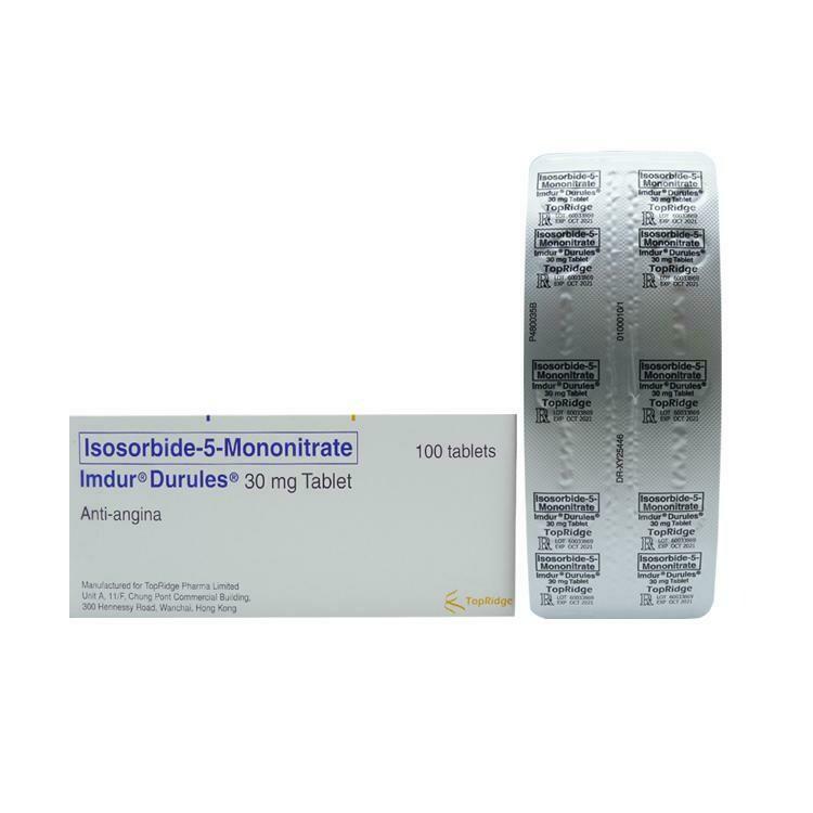 Imdur Durules (Isosorbide Mononitrate) 60mg Tablet x 1's