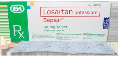 Bepsar (Losartan) 50mg Tablet x 1's