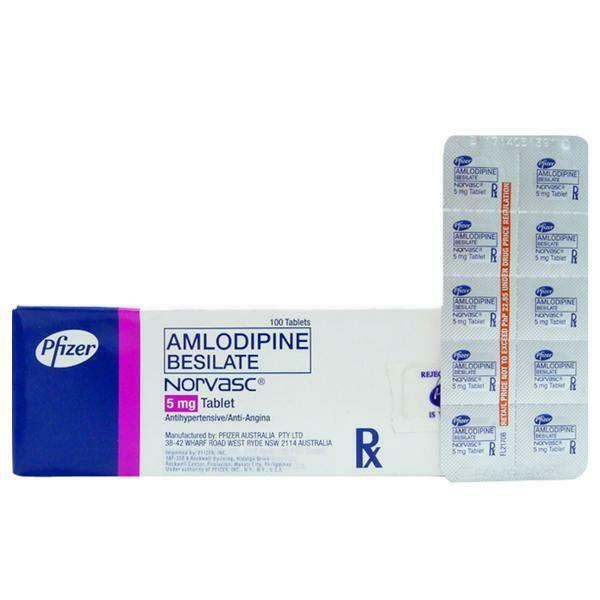 Norvasc (Amlodipine) 5mg. Tablet x 1's