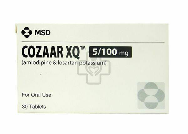 Cozaar XQ (Losartan + Amlodipine) 100mg/5mg Tablet x 1's