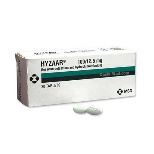 Hyzaar DS (Losartan + Hydrochlorothiazide) 100mg/25mg Tablet x 1's