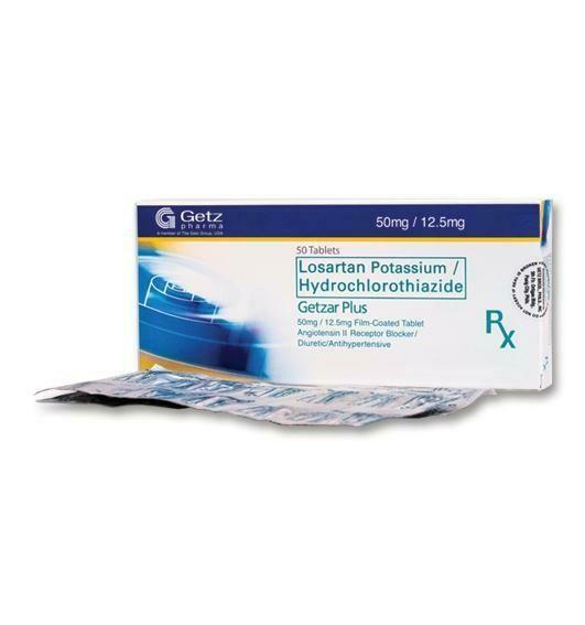 Getzar Plus (Losartan + Hydrochlorothiazide) 50mg/12.5mg Tablet x 1's