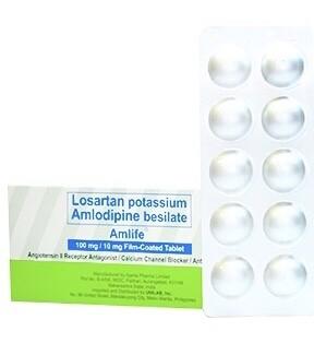Amlife (Losartan + Amlodipine) 100mg/10mg Tablet x 1's