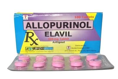 Allopurinol 300mg Tablet x 1's