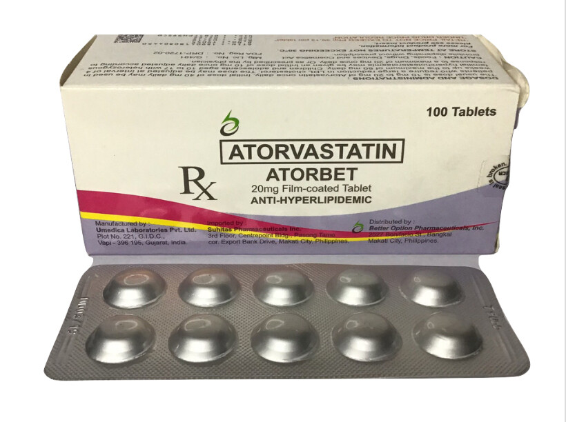 Atorvastatin 20mg Tablet x 30's Monthly Compliance Dose Pack