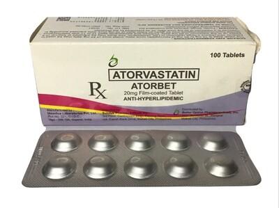 Atorvastatin 20mg Tablet x 1's