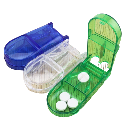 Pill Half Splitter / Tablet Cutter Storage Compartment Medicine Box