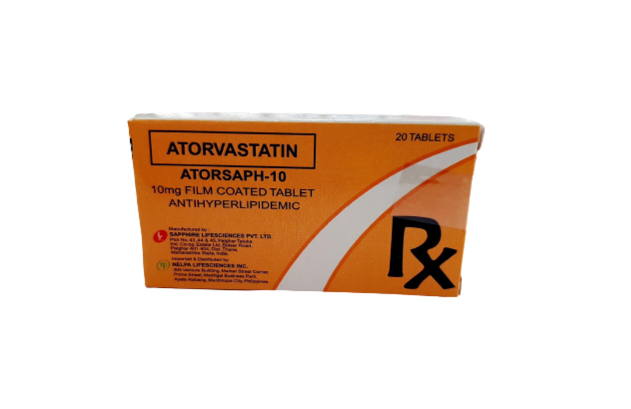 Atorvastatin 10mg Tablet x 30's Monthly Compliance Dose Pack