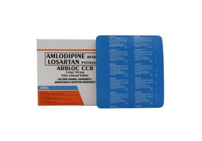 Arbloc CCB (Losartan + Amlodipine) 50mg/5mg Tablet x 1's