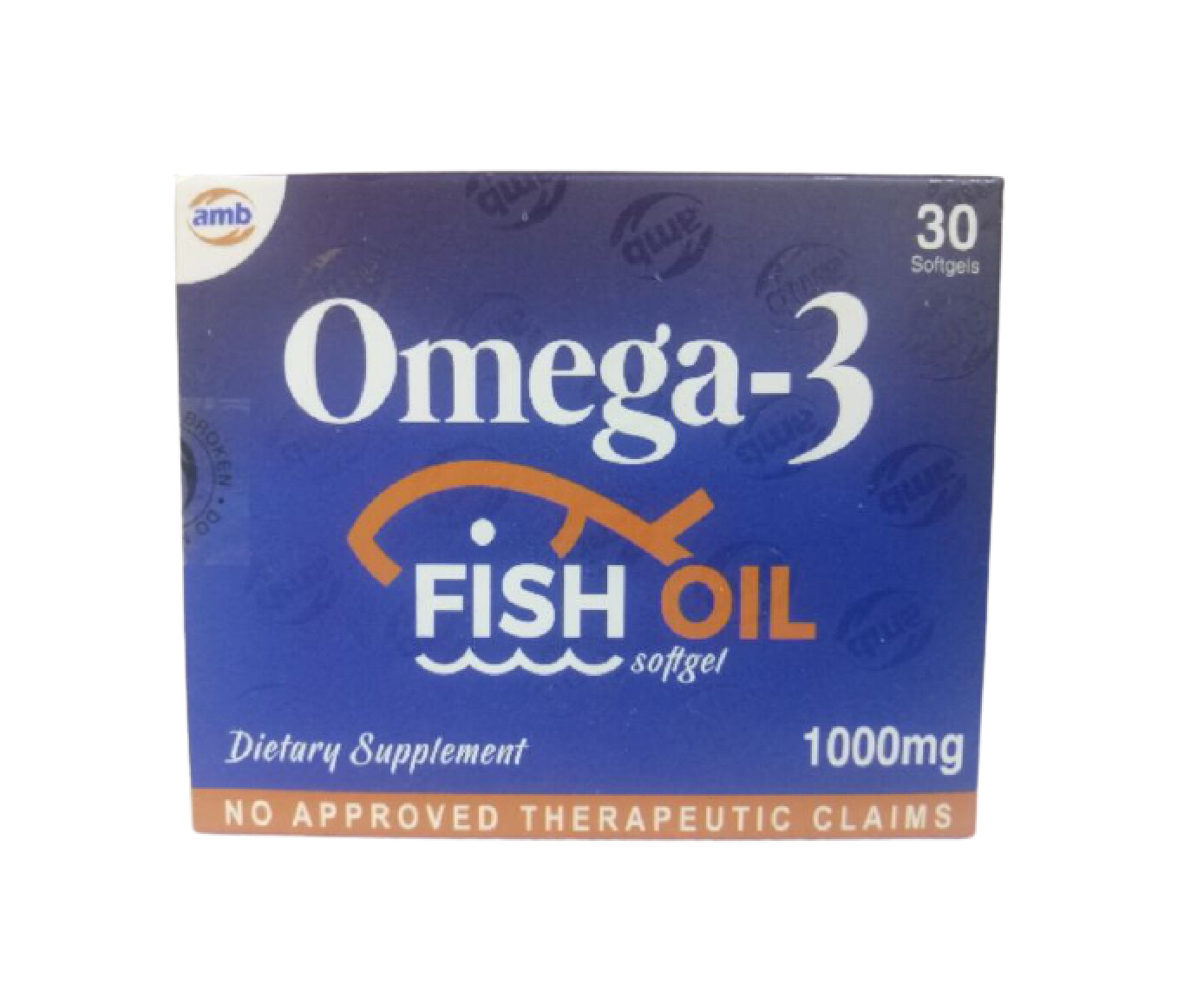 Omega 3 Fish Oil Softgel Capsule x 30's Monthly Dose Compliance Pack