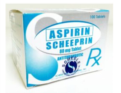 Aspirin 80mg Tablet x 30's Monthly Pack