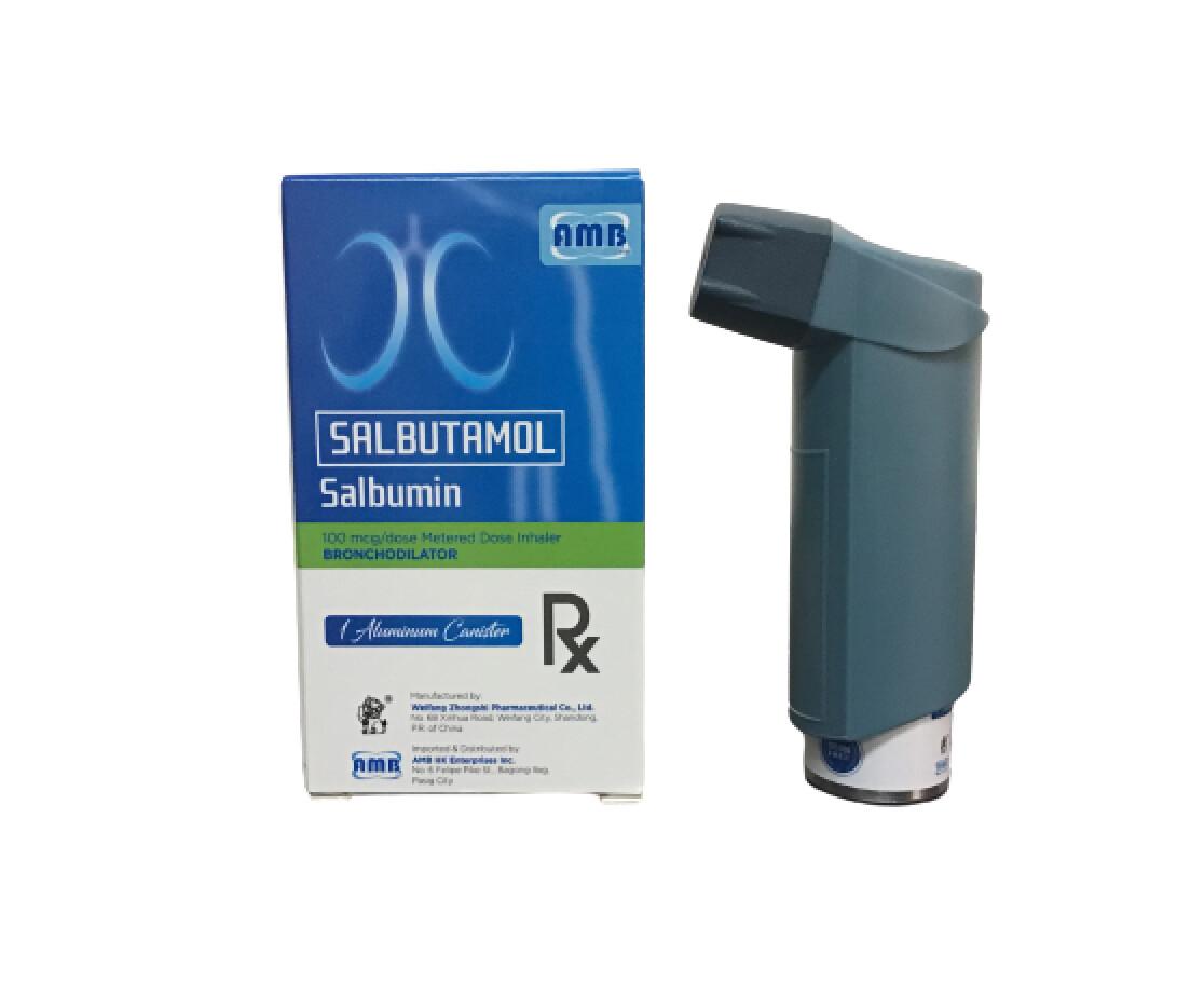 Salbutamol 100mcg/200  Metered Dose Inhaler  x 1's