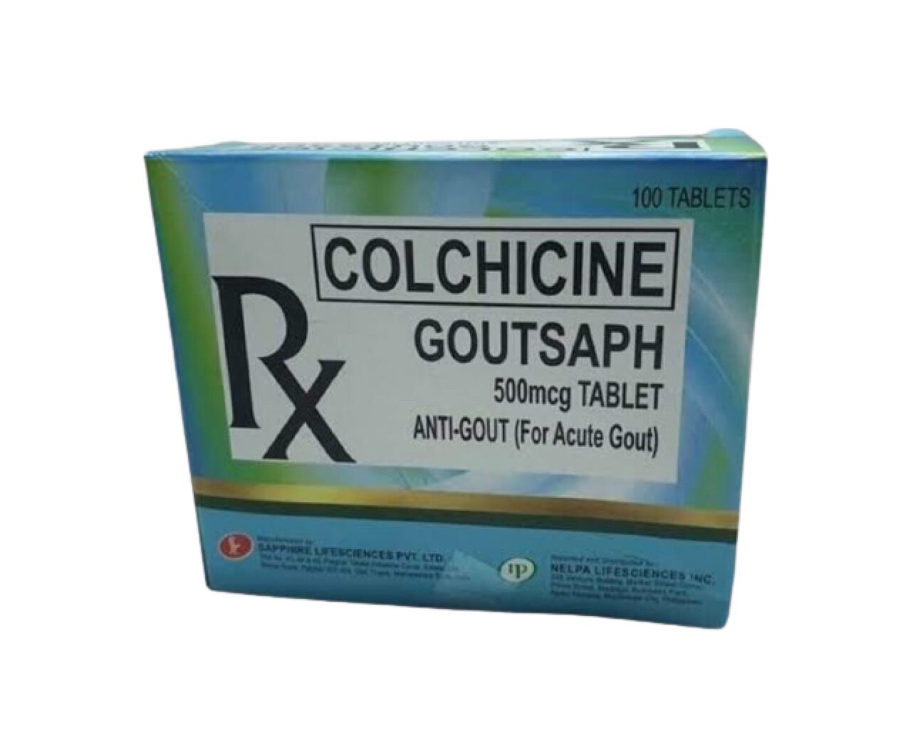 Colchicine 500mcg Tablet x 1's