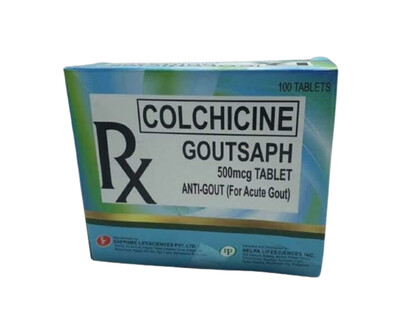 Colchicine 500mcg Tablet x 30's Monthly Dose