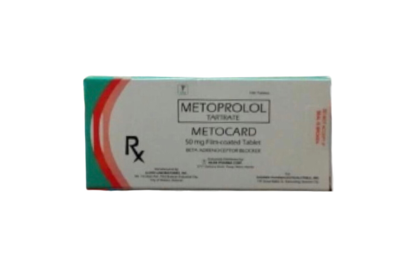 Metoprolol 50mg Tablet Monthly Pack x 30's