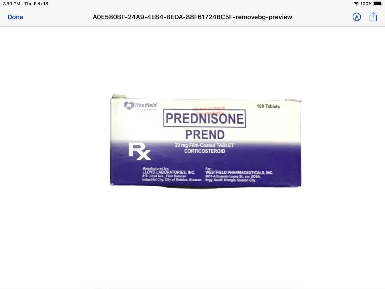 Prednisone 20mg Tablet  x 1's