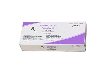 Febuxostat 40mg Tablet x 30's Monthly Dose Compliance Pack