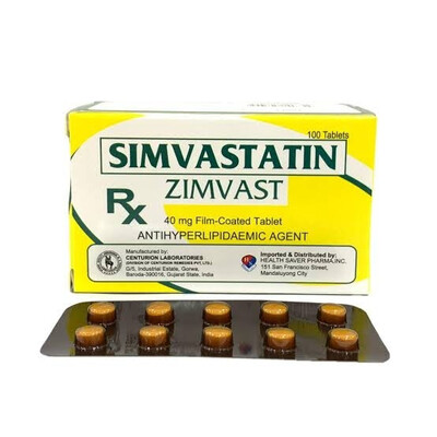 Simvastatin 40mg Tablet x 30 Monthly Dose