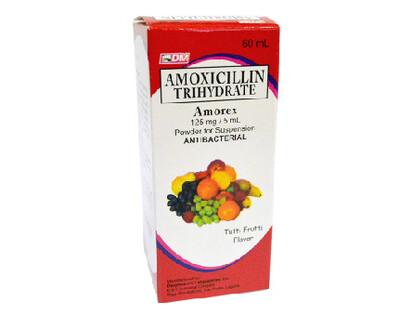 Amoxicillin 125mg/5ml Suspension 60ml  x1's